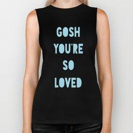 Gosh (Loved) Blue  Biker Tank