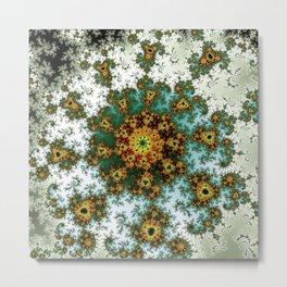 Afro Spiral Flower - fractal art Metal Print