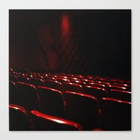 cinema Canvas Prints featuring cinema by stevee