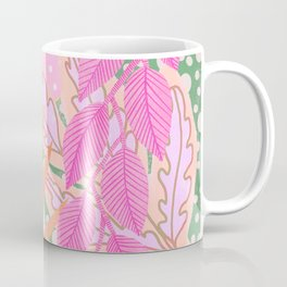 Modern Jungle Plants - Pink Green Purple Coffee Mug