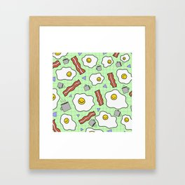 Breakfast Buddies Framed Art Print