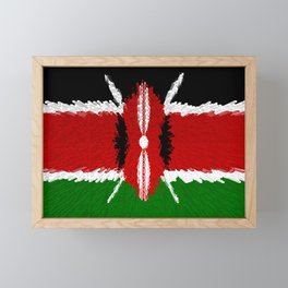 Extruded Flag of Kenya Framed Mini Art Print