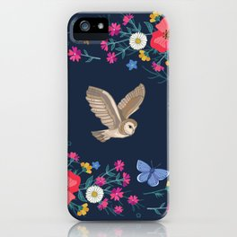 Owl and Wildflowers iPhone Case