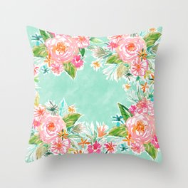 BOUNDLESS Happy Bright Floral Throw Pillow