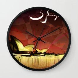 Sydney Opera House Wall Clock