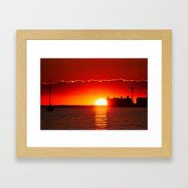 Coney Island Sunset Framed Art Print