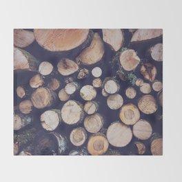 firewood no. 1 Throw Blanket