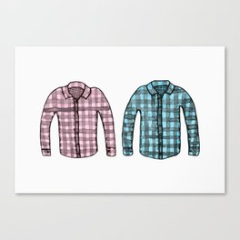 Flannel shirts Canvas Print