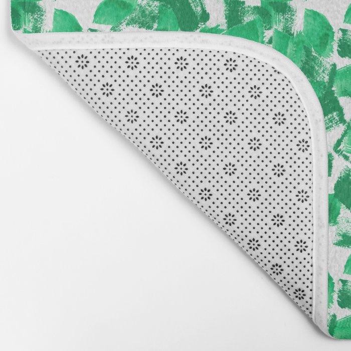 Mindi - painterly painting abstract minimal monochromatic bright boho modern brushstrokes art Bath Mat