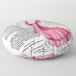 Regency Fashion Plate 1819, La Belle Assemblee Floor Pillow