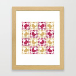 Pattern with hearts Framed Art Print
