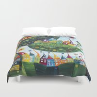 snail Duvet Covers featuring Snail by Annabies