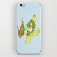 The Girl and the Turtle iPhone & iPod Skin