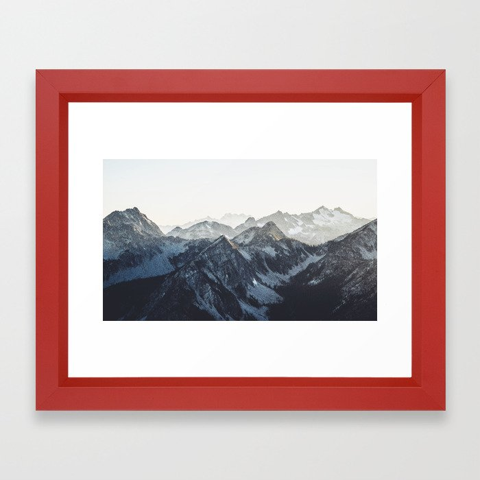Mountain Mood Framed Art Print