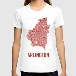Arlington Neighborhood Map T-shirt