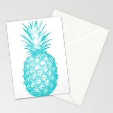 Teal Pineapple Stationery Cards