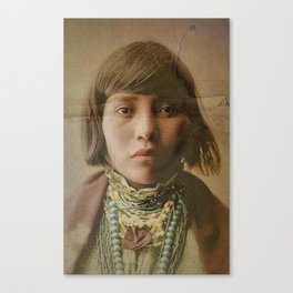 Young Native American Girl 1904 Canvas Print