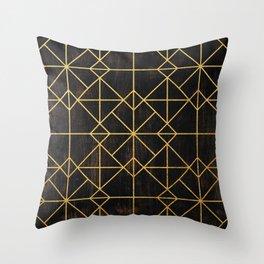 Golden Mosaic  Throw Pillow