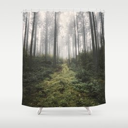 Unknown Road - landscape photography Shower Curtain