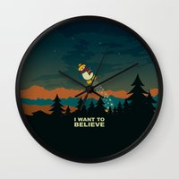 i want to believe Wall Clocks featuring I want to believe by mangulica