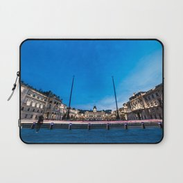 The square of Trieste during Christmas time Laptop Sleeve