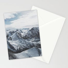 Snowy Mountains of Alberta Stationery Cards