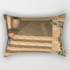 Old Town Stairs and Arches Rectangular Pillow
