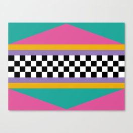 Checkered pattern grid / Vintage 80s / Retro 90s Canvas Print