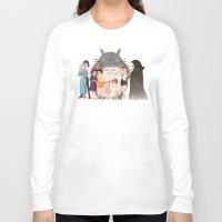 hayao miyazaki Long Sleeve T-shirts featuring Hayao Miyazaki's Family by Naineuh