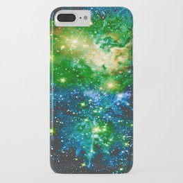 Fox Fur Nebula Teal Green iPhone Case