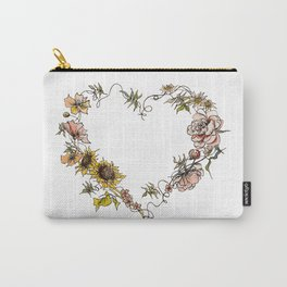 Flower Heart Carry-All Pouch