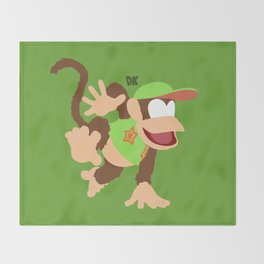 DIDDY KONG(SMASH)GREEN Throw Blanket