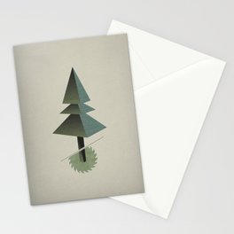 Triangle Tree Stationery Cards