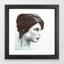 girl 7 Framed Art Print