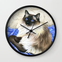 My Favourite Place Ragdoll Cat Wall Clock