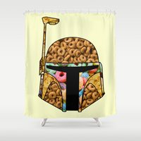 boba Shower Curtains featuring Boba Cereal by Iamzombieteeth Clothing