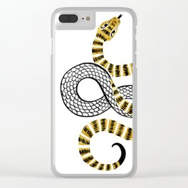 Gold Snake Clear iPhone Case