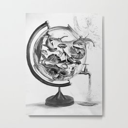 The Spill Metal Print