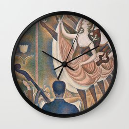 Le Chahut by Georges Seurat, 1889 Wall Clock