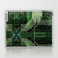 Circuit board very green zoom Laptop & iPad Skin