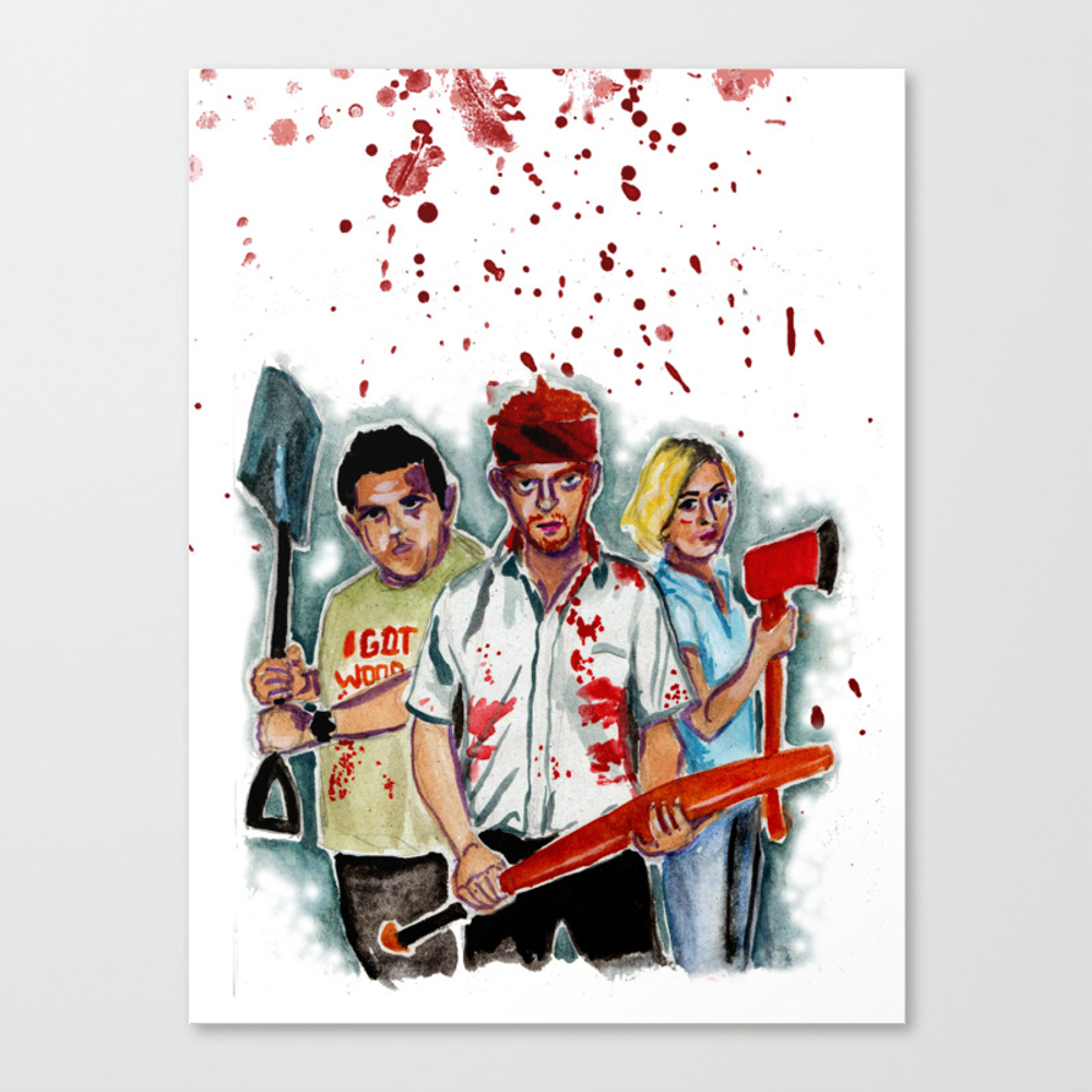 Shaun Of The Dead Canvas Print by Lgatiesniece CNV8105128