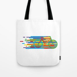 Colourful cycling 2 Tote Bag