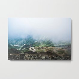 Above the clouds. Metal Print