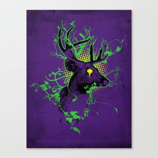 Trippy Ghost Deer Canvas Print