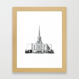 0c949d18913e Jordan River LDS Temple Framed Art Print