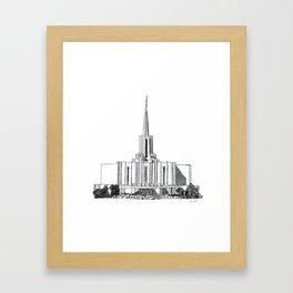 Jordan River LDS Temple Framed Art Print