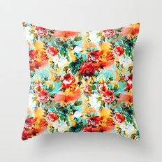 Floral Camouflage Throw Pillow