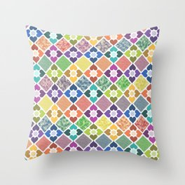 Colorful Floral Pattern III Throw Pillow