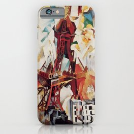"""Robert Delaunay """"Graphic Champs de Mars: The Red Tower"""" iPhone Case"""