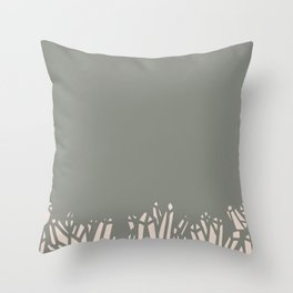 Olive Green Magic Crystals Throw Pillow
